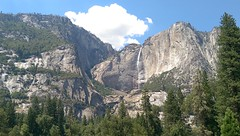 Yosemite Falls (anthonyayy) Tags: yosemite yosemitefalls yosemitevalley mountain waterfall nature scenery outdoors green blue sky cloud mountains valley