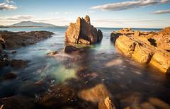 Bermagui rocks (laurie.g.w) Tags: ocean sunset seascape bay rocks angle harbour wide shoreline tokina coastline 35 rmc bermagui 17mm