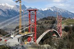 Tamina Bridge - Under Construction (Kecko) Tags: 2015 kecko switzerland swiss schweiz suisse svizzera ostschweiz sg badragaz pfäfers taminatal valens baustelle construction site strasse road brücke bofel gassaura bridge taminabrücke swissphoto geotagged geo:lon=9485471 geo:lat=46988801