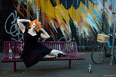 Ophelia (Ranga 1) Tags: portrait urban streetart girl canon graffiti fitzroy australian streetphotography australia melbourne streetscene victoria davidyoung innersuburbs innermelbourne ef24105mmf4lusm canoneos5dmarkiii