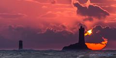 Sunset (Ronan Follic) Tags: sunset sea sun mer lighthouse seascape france landscape soleil brittany bretagne breizh phare bzh finistere