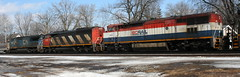 BCOL 4616, CN 5516, IC 2460, Adams, Neenah, 7 Mar 15 (kkaf) Tags: neenah l528 zebra coveredwagon bluebird bcol adams