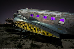 Looking For a Wing and a Prayer (dejavue.us) Tags: longexposure nightphotography arizona lightpainting abandoned airplane nikon desert tucson aircraft fullmoon nikkor boneyard d800 1835mmf3545d vle