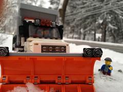 Plowing over the sidewalk I just shoveled... (Kooberz) Tags: snow truck lego cab gift custom loader mack snowplow peterbuilt moc