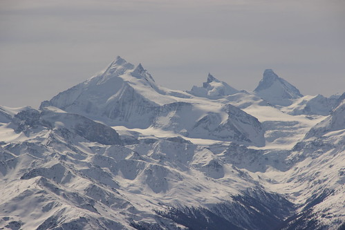 Weisshorn, Zinalrothorn and Matterhorn