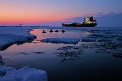 USCGC Bristol Bay ice liberty in Lake Erie (Coast Guard News) Tags: ohio coastguard us lakeerie unitedstates greatlakes icebreaker swimcall ccgsgriffon operationcoalshovel coastguardcutterbristolbay 140footicebreakingtug coastguardninthdistrict