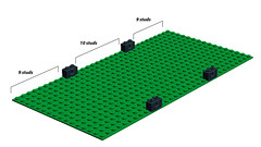 16-wide base dimensions (1982redhead) Tags: building lego modular guide