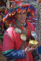 Water seller, Morocco (JohntheFinn) Tags: africa people costume clothing dress northafrica clothes oasis morocco maroc maghreb marokko indigenous afrique kansallispuku afrikka ihiminen pohjoisafrikka