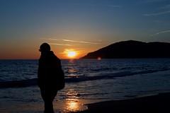 Taking a Walk (Bretello) Tags: sunset sea man beach tramonto mare waves walk spiaggia carrara passeggiata marinadicarrara montemarcello afsdxnikkor35mmf18g