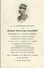 Gal DV- Pierre- des Vallieres -in memoriam (millot) Tags: 1918 mortpourlafrance juvigny généralpierredesvallières 151edivisiondinfanterie