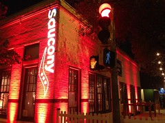 Amber/Champagne Lighting - Architectural Lighting - Logo Projection - Coppertank Events Center