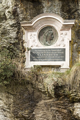 Plaque To Empress Elisabeth of Austria, Bad Gastein (violinconcertono3) Tags: salzburg rock stone plaque austria memorial noone empress shrubs royalty badgastein kaiserin euurope empresselizabethofaustria