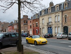 HONDA S2000 Jaune (xavnco2) Tags: france cars yellow jaune honda spider automobile autos amiens s2000 picardie roadster somme