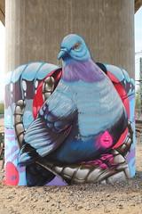 street fire (Pixeljuice23) Tags: streetart graffiti pigeon mainz friendlyfire pixeljuice