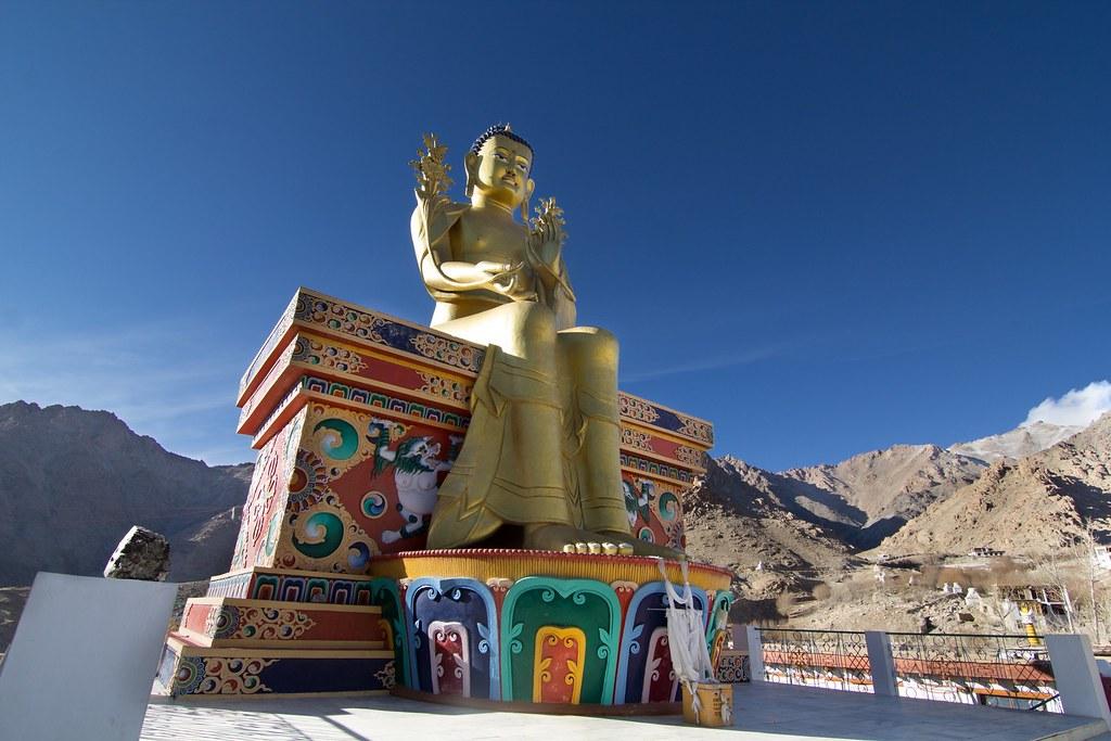 india buddha leh himalayas ladakh likir maitreya incredibleindia