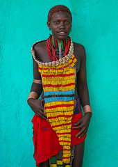 Hamer tribe teenage girl in traditional clothing, Omo valley, Turmi, Ethiopia (Eric Lafforgue) Tags: africa portrait people shells color men vertical outdoors photography necklace women day african traditional culture skirt tribal ornament bracelet teenager blackpeople bead omovalley colourful tradition ethiopia tribe ethnic brass oneperson developingcountry hamer hornofafrica ethnology ethiopian omo eastafrica animalskin abyssinia teenagegirl traditionalclothing realpeople onewomanonly lookingatcamera waistup turmi africanethnicity 1people ethnicgroup beadednecklaces southethiopia omorivervalley blackethnicity ethiopianethnicity ethio161582