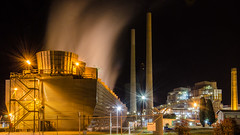 Wallerawang Power Station I (nikabuz) Tags: nightphotography architecture energy industrial tripod australia nsw electricity coal powerstation longexposures nikkor18105lens wallerawangpowerstation nikond7000