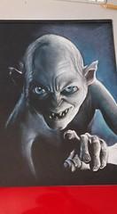 Gollum (DiegoCarnevale) Tags: portrait colore fantasy gollum colori nero tesoro carta matita disegno viso mostro matite pastello pastelli personaggio creatura