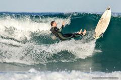 Lost it (sbyrnedotcom) Tags: ocean sea beach waves action australia surfing nsw surfers byronbay tallowbeach