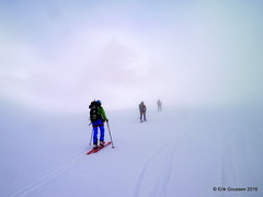 Day 4: A rare break in the clouds - you can almost see La Sepentine in the middle. (Erik.G.) Tags: zermatt chamonix skitouring skitour hauteroute valsorey plateauducouloir