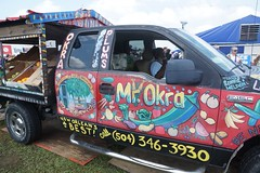 Mr. Okra in His Truck (spinadelic) Tags: new music festival orleans south april nola jazzfest nawlins stevespencer 2016
