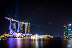 Marina Bay Sands Light Show (davidgevert) Tags: longexposure nightphotography water hotel singapore cityscape lasershow lightshow d800 marinabay tiltshift travelphotography nightcityscape marinabaysands nikond800 nikon24mmf35pce davidgevert gevertphotography