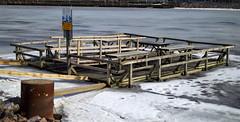 No fishing (ri Sa) Tags: winter snow ice finland carpet pier helsinki washing srninen