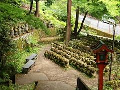 The Healing Temple (brisa estelar) Tags: travel trees red green japan temple kyoto traditional buddhism serene lantern rakan otagi