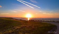 Planes are crossing the sea! (Marc de Graaf) Tags: sunset nature colors clouds landscape planes dreamy