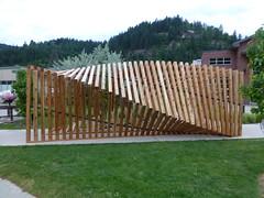 P1040817 (arrowlakelass) Tags: canada bc pergola castlegar 2016 sculpturewalk christopherpetersen springshine hanswinter