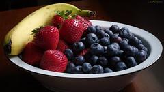 pixel-shifted fruit bowl (loco's photos) Tags: dfa5028 k1 pentax pixelshiftresolution banana blueberries bowl food fresh fruit strawberries windowlight