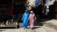 Women in Djellabas, Fes (macloo) Tags: dress muslim morocco fez medina fes attire djellaba