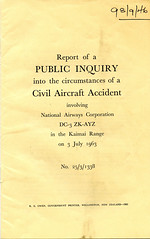 Public Enquiry into the Circumstances of a Civil Aircraft Accident - Kaimai Range - 3 July 1963 (Archives New Zealand) Tags: newzealand airplane crash accident nz archives 1963 enquiry kaimai newzealandhistory archivesnewzealand nzhistory archivesnz