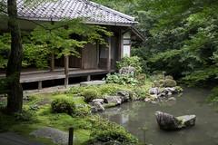 Renge-ji  (Patrick Vierthaler) Tags: summer japan garden temple japanese kyoto sommer line    kansai garten  tempel  dentetsu  sakyoku  japanischer  takaragaike eizan rengeji rakuhoku  yase     sakyo