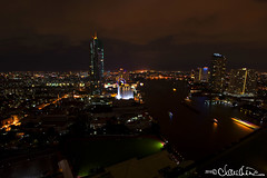 (by claudine) Tags: sky architecture night clouds skyscraper river landscape thailand bangkok culture fromabove thai customs chaophrayariver travelphotographyworldphotosuniquebyclaudine