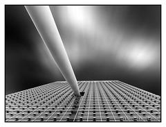 KPN Tower, Rotterdam (PvRFotografie) Tags: blackandwhite holland building monochrome architecture blackwhite rotterdam zwartwit nederland architectuur gebouw rotterdamzuid fujix20 fujifinepixx20