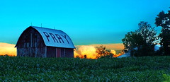 ......And Don't Forget To Repent, By the Way (nelhiebelv) Tags: sunset storm color barn farm pray eatoncounty