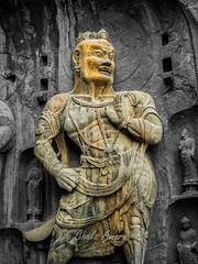 -  Longmen Grottoes Buddhist Sculpture (Chula Amorn) Tags: china sculpture buddhist panasonic longmen grottoes