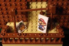 The veranda. Lego Paper Mario 64 Goomba village MOC (pabloska_ebububbu) Tags: lego paper mario 64 goomba village supermari papermario legopapermario sets goompa goombario goombaria goombmama goompapa wii u pabloska edububbu mrio maker super color splash legomariokart kart