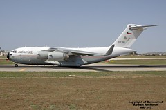 KAF343 LMML 09-07-2016 (Burmarrad) Tags: cn force aircraft air iii airline kuwait boeing globemaster registration c17a lmml f266 kaf343 09072016