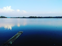 Blue Lake (Octaff Muhammad) Tags: sky lake nature water indonesia boat cirebon danau