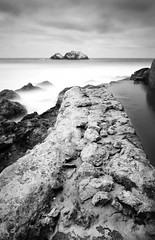 old wall sutro baths (hbphototeach) Tags: approved sutro baths san francisco california bayarea black white long exposure pacific ocean ruins seal rocks landscape seascape