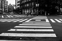 P9201261 Spain Basque Country Bilbao (Dave Curtis) Tags: 2013 em5 europe omd olympus spain basque country bilbao crossing crosswalk stripes
