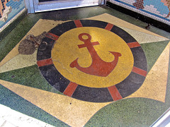 Mayflower Cafe, Jackson, MS (Robby Virus) Tags: door food mississippi restaurant cafe floor entrance front jackson southern anchor seafood entry mayflower terrazzo