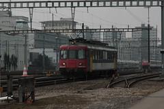 OeBB Oensingen Balsthal Bahn Rbe 205 ( Ex SBB Triebwagen RBe 540 019 - 7 => Ehemals 1421 => Hersteller SIG - BBC - MFO ) am Bahnhof Bern Wylerfeld bei Bern im Kanton Bern der Schweiz (chrchr_75) Tags: chriguhurnibluemailch christoph hurni schweiz suisse switzerland svizzera suissa swiss chrchr chrchr75 chrigu chriguhurni mrz 2015 albumbahnenderschweiz albumbahnenderschweiz201516 schweizer bahnen eisenbahn bahn train treno zug albumzzz201503mrz albumbahnsbbrbe44bzw540 schweizerische bundesbahnen sbb cff ffs triebwagen rbe 44 540 juna zoug trainen tog tren  lokomotive  locomotora lok lokomotiv locomotief locomotiva locomotive railway rautatie chemin de fer ferrovia  spoorweg  centralstation ferroviaria