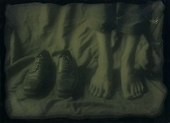 Next to his shoes (vincent-photo) Tags: ambrotype largeformat 5x7 silvergelatin 13x18 dryplate fkd fkdcamera leitmeyr24045