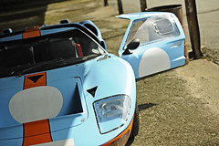 Ford GT MkII (Rob Scorah) Tags: auto classic ford car race prime nikon automobile gulf racing historic gt lemans sportscar racer mkii gt40 70200mm d3x worldcars