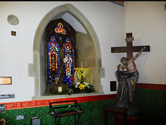 In Pantasaph Chapel (foggyray90) Tags: church glass wales shrine catholic chapel stained monastery crucifix welsh padre pio franciscan capuchin