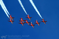 Royal Air Force Red Arrows Bae Hawk T.1 (SparkyMark's Aircraft ✈) Tags: red force hawk air royal arrows bae redarrows raf t1 lintononouse