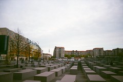 To memorize 2 (cavasabine) Tags: sky berlin film monument germany symbol kodak jewish memorize rainbowv